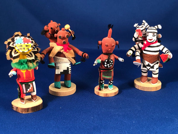 Set of 7 Small Navajo Kachinas