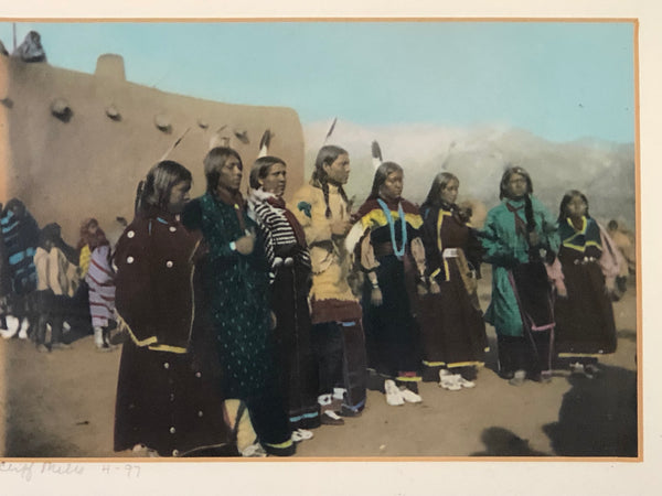 B.G. Randall Photograph Intertribal Social Dance colored by Cliff Mills (Randall's great-grandson)
