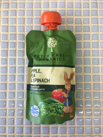 peter rabbit organics pea, spinach & apple