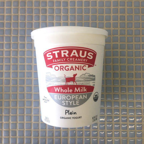 straus whole milk organic european style yogurt plain