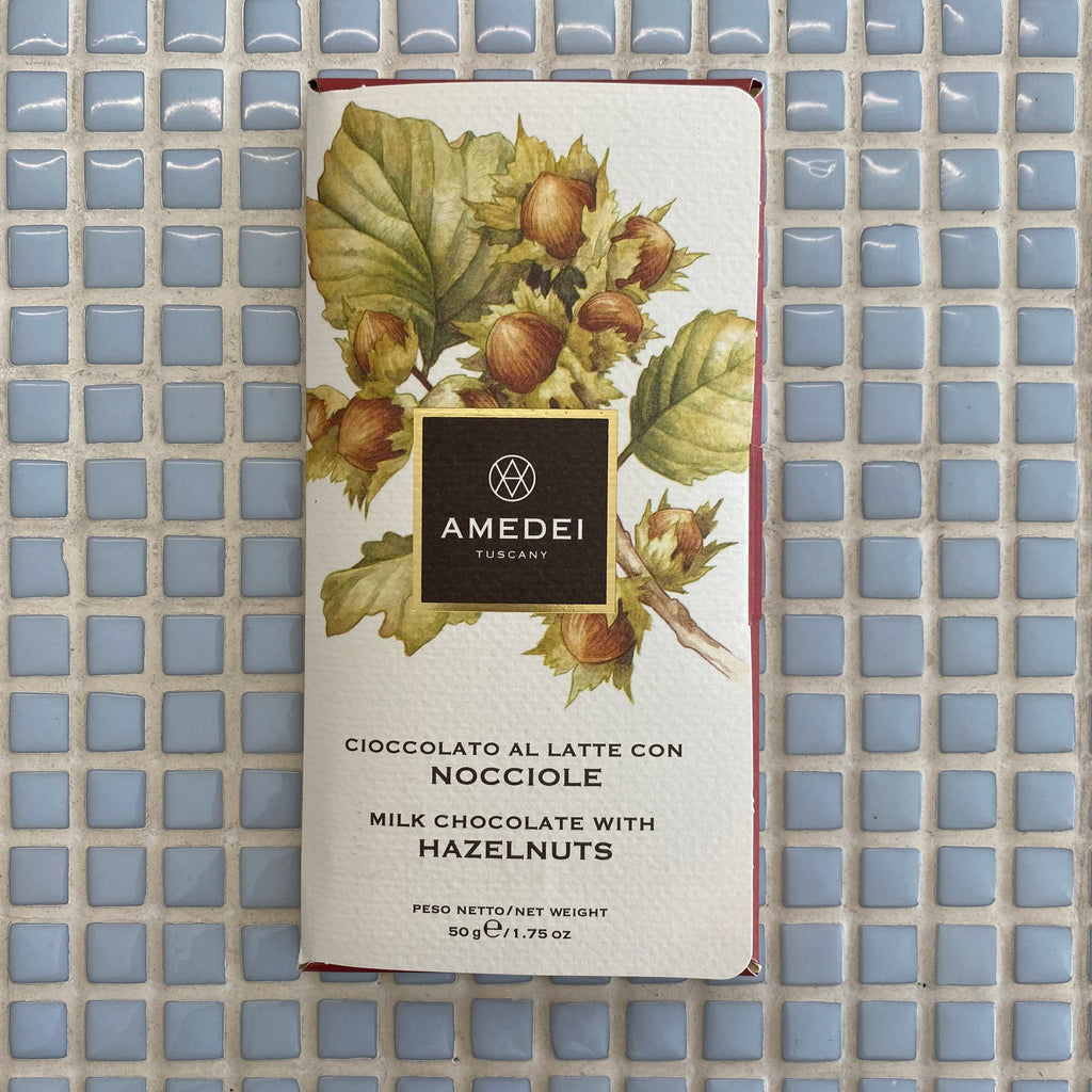 amedei milk chocolate with hazelnuts