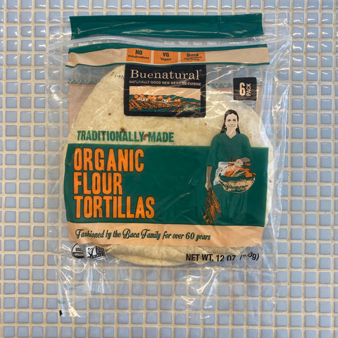 buenatural organic flour tortillas