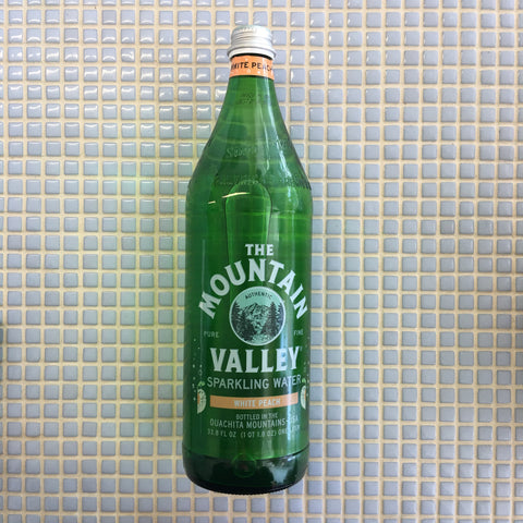 mountain valley 1L peach sparkling water