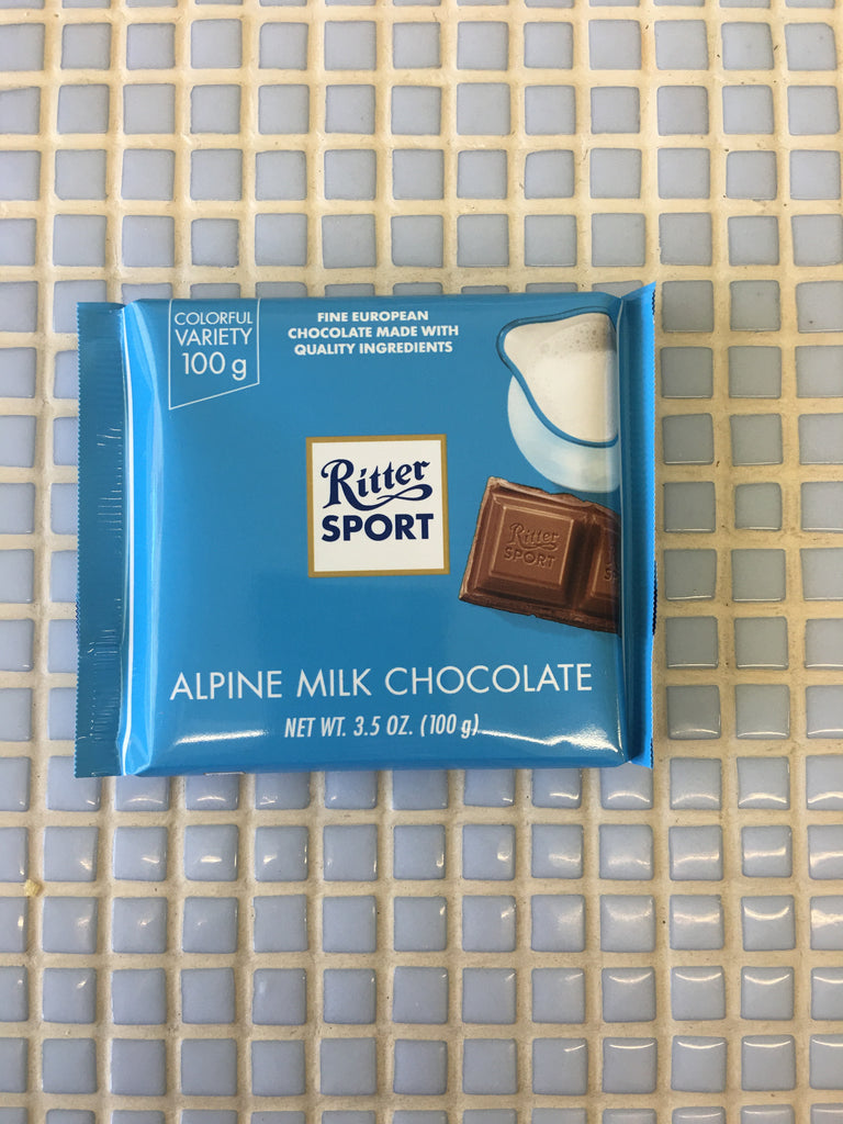 ritter alpine milk chocolate bar