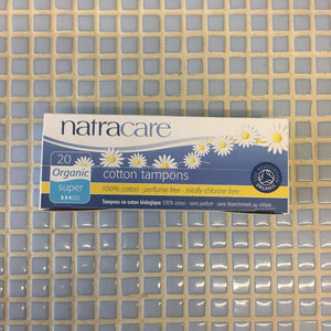 natracare cotton tampons organic super