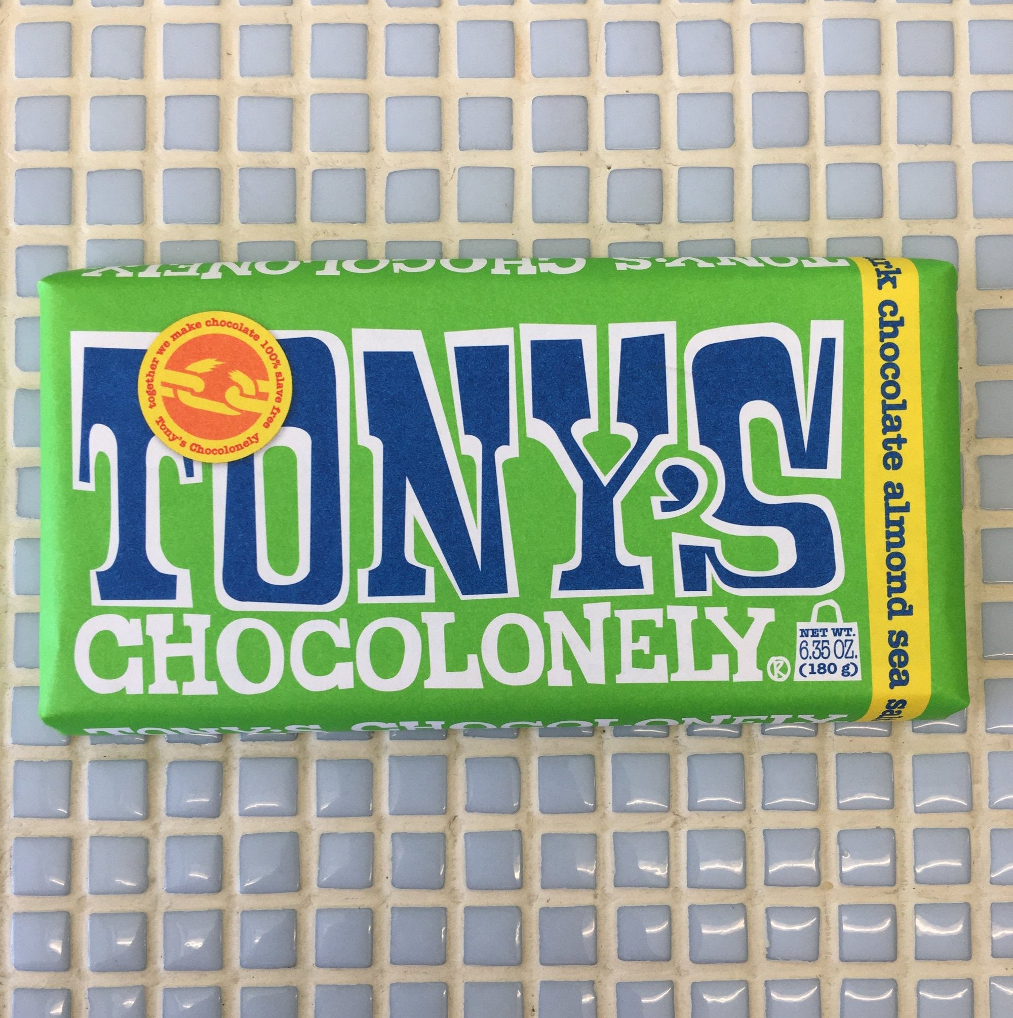 tonys chocolonely dark chocolate almond sea salt