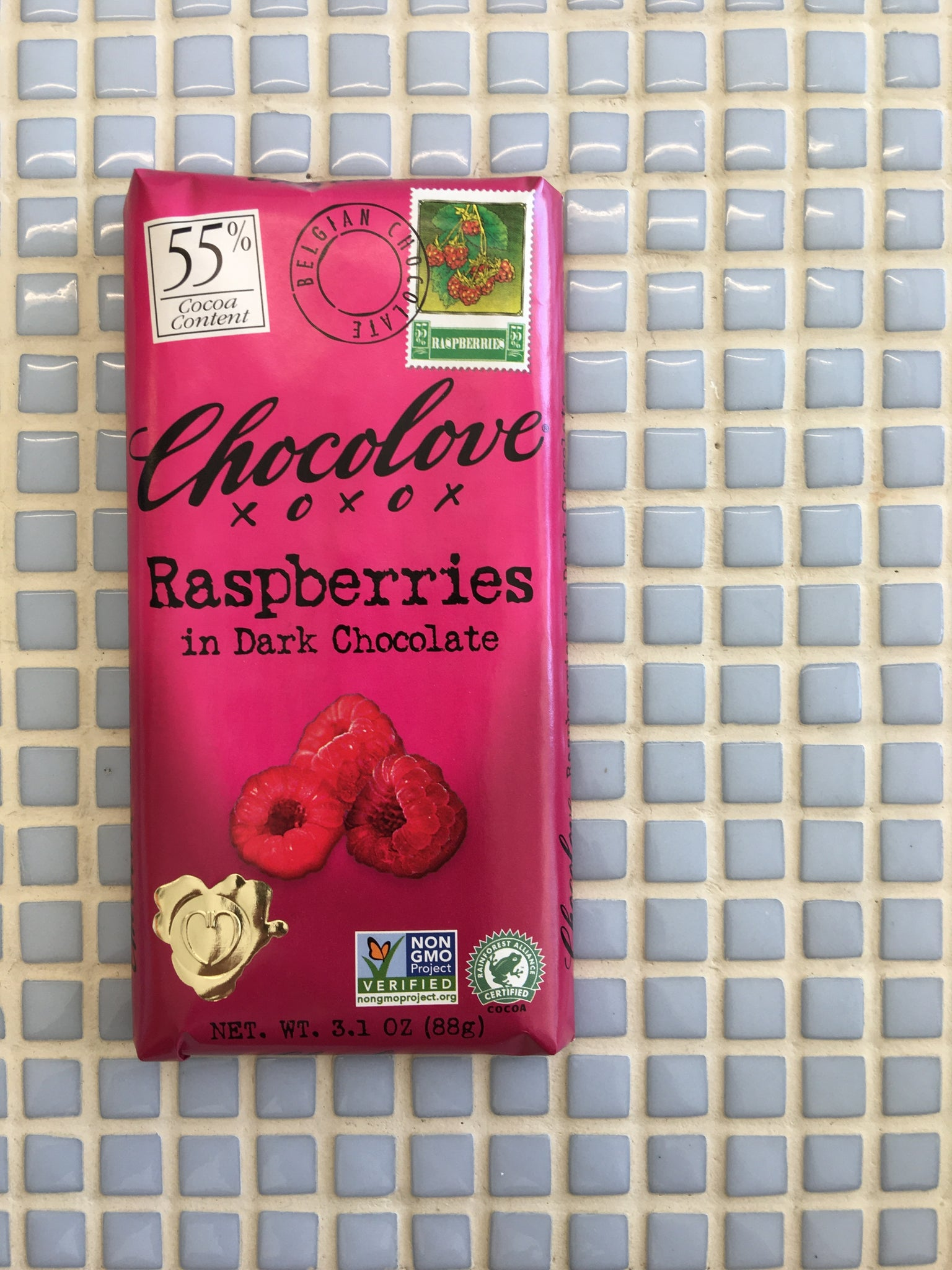 chocolove dark with raspberries