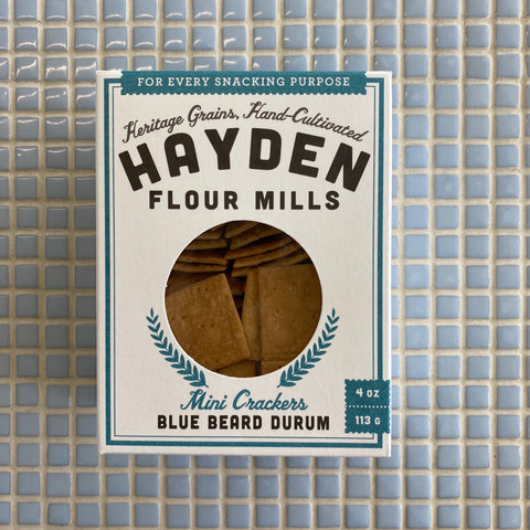 hayden flour mills blue beard durum mini crackers