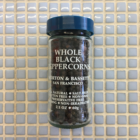 morton  and bassett whole black peppercorn