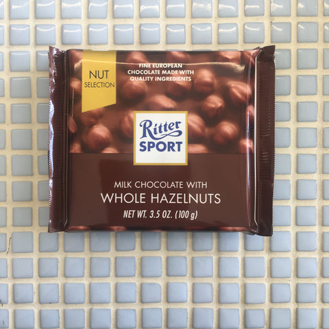 ritter milk chocolate with hazelnuts