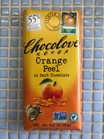 chocolove orange peel dark chocolate