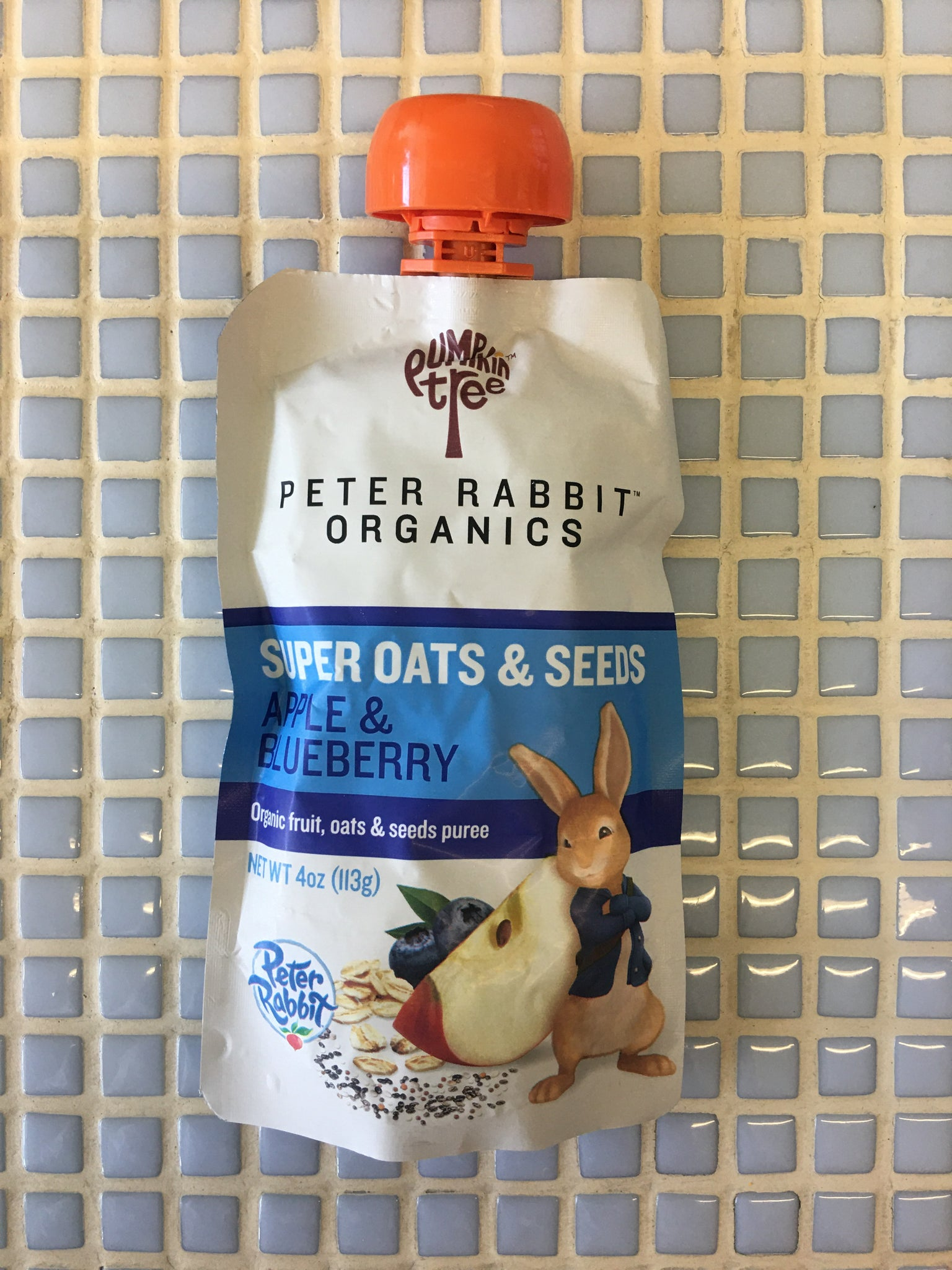 peter rabbit super oats & seeds apple blueberry puree