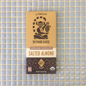 madecasse salted almond chocolate bar