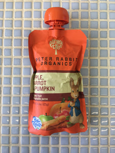 peter rabbit apple carrot & pumpkin puree