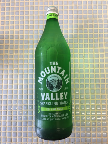 mountain valley 1L lime sparkling water