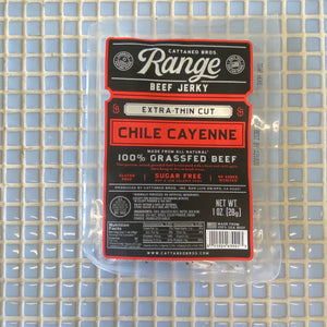 cattaneo bros chile cayenne grass fed extra thin cut beef jerky 1oz
