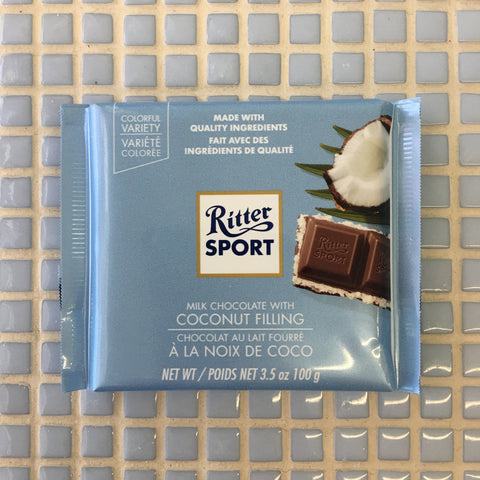 ritter milk chocolate coconut filling bar
