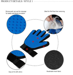 Pet Grooming Glove - Left or Right Handed Dog & Cat Massage Brush - The Paw Empire
