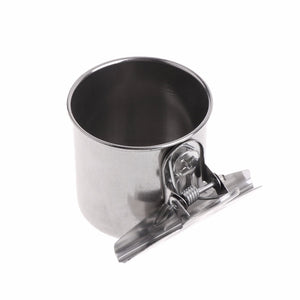 Easy Clip Stainless Steel Bird Feeding Cups - Bird Cage Feeding Bowls - The Paw Empire