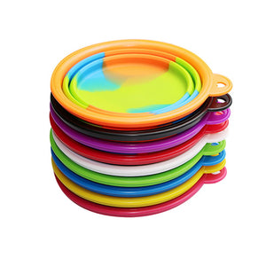 350ml Rainbow Collapsible Pet Bowl - Portable Dog Water or Food Bowl - The Paw Empire