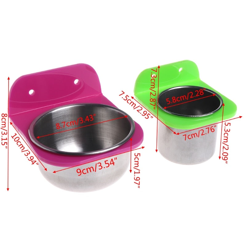 Stainless Steel Bird Food and Water Bowl - The Paw Empire
