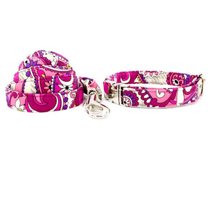 the-paw-empire - The Pink Flower - Designer Collars and Leads for Dogs and Cats - Dog Collar