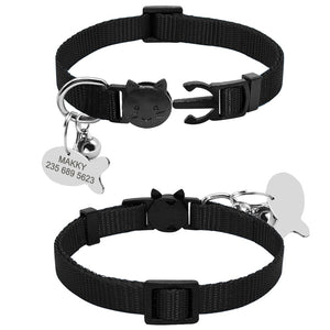 Quick Release Small Cat Collar - Free Personalised Engraving - The Paw Empire