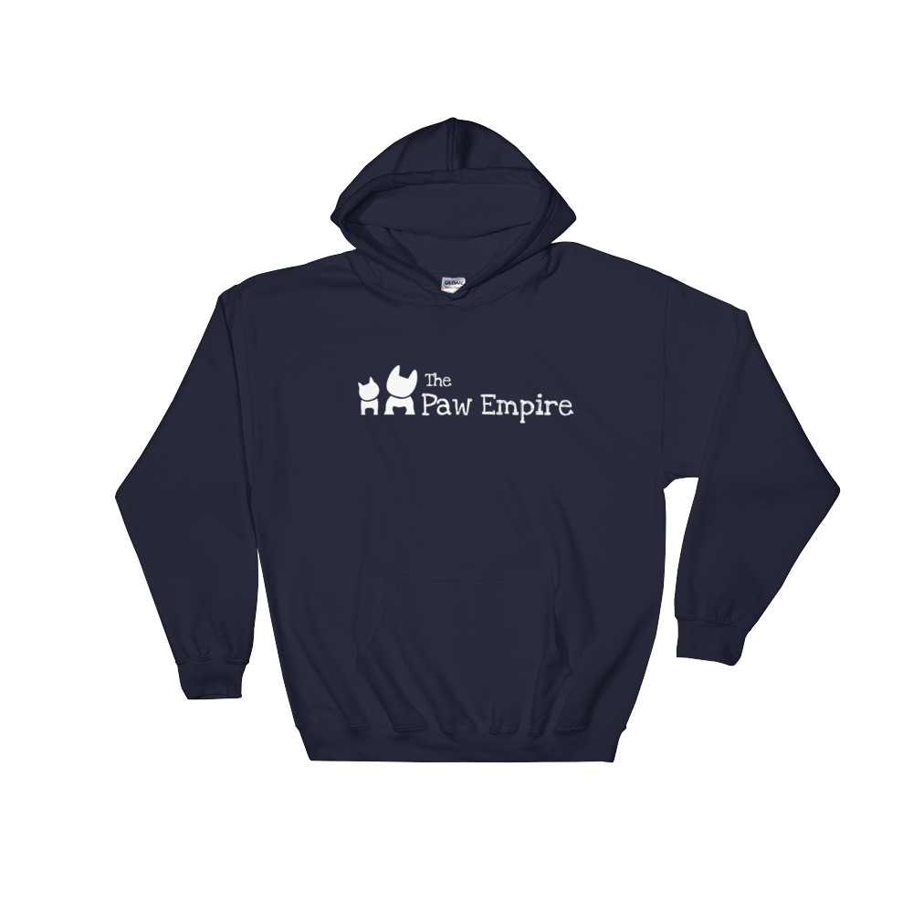 The Paw Empire Navy Hooded Sweatshirt - The Paw Empire