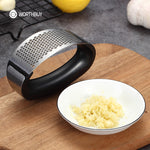 Stainless Steel Garlic Press- Garlic or Ginger Grinder Grater & press - The Paw Empire