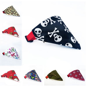 16 Funky Dog & Cat  Bandana Collars -Adjustable Bibs Scarf Pet neckerchief - The Paw Empire
