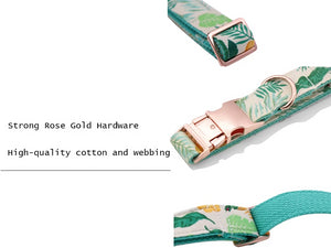Dog Collar & Cat Collar - Summer Tropics Designer Collar, Lead and Bowties for Dogs and Cats - The Paw Empire