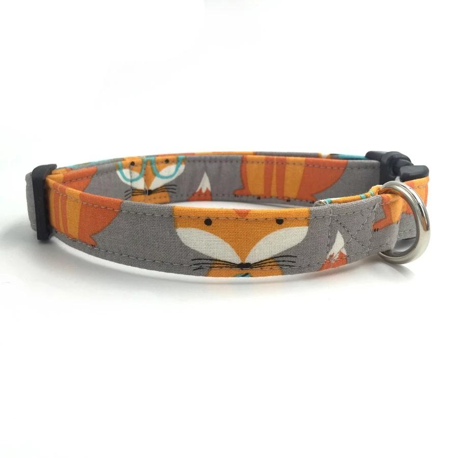 The Orange Fox Dog Collar - Designer Collars & Leads for Dogs & Cats - The Paw Empire