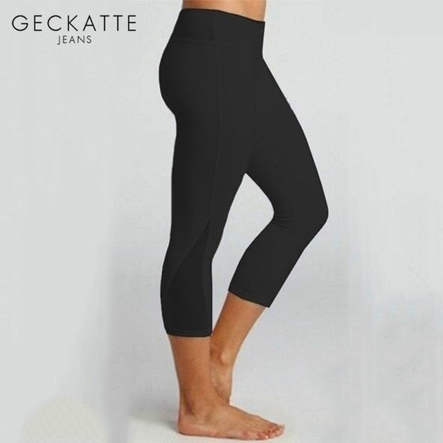 Womens gym tights -  High Waist Leggings Fitness  Yoga Workout  Elastic Plus Size Activewear