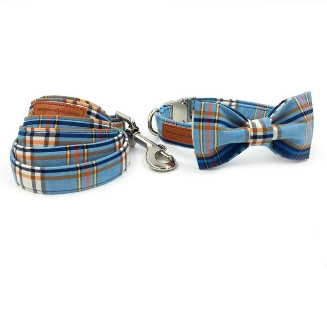 The Blue Plaid - Designer Collars and Leads for Dogs and Cats - The Paw Empire