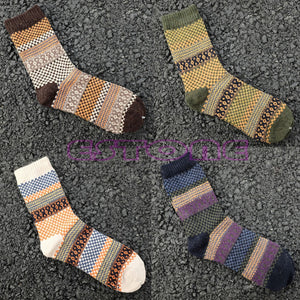 4 Pack Cotton Socks - Trendy Warm Winter Socks - The Paw Empire
