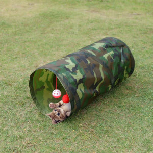 Collapsible Cat Play Tunnel - Cat Scratch and Play Toy - The Paw Empire