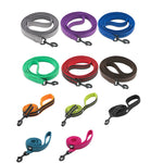 Dog Leash -  Heavy Duty 200cm Reflective Soft Nylon Lead - The Paw Empire