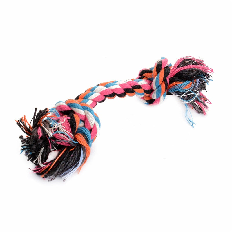 Cotton Braided Knot Dog Chew Toy - Strong Dog Cotton Chew Toy - The Paw Empire