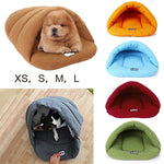 The Puppy Cave - Polar Fleece Dog and Cat Bed - The Paw Empire