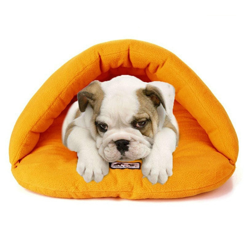 the-paw-empire - The Puppy Cave - Polar Fleece Dog and Cat Bed - Pet Bed
