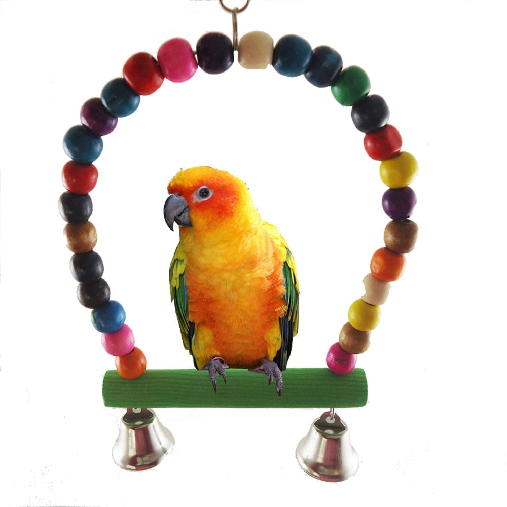 Rainbow Bird Swing - The Paw Empire