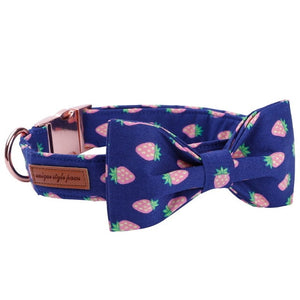 the-paw-empire - Pink Pineapple Dog Collar - Designer Collars & Leads for Dogs & Cats - Collar