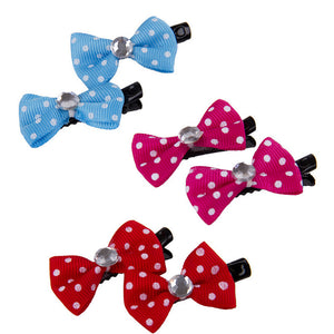 Polka Dot Bow- Cat & Dog Hair Clip 10 Pack - The Paw Empire