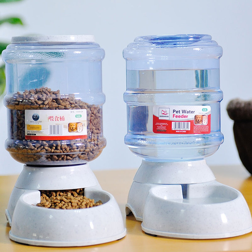 Pet slow feed bowls-Dog & Cat automatic drinker & feeder bowls - The Paw Empire
