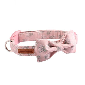 Pink Floral Collar- Cute Designer Collars & leads for Dogs & Cats - The Paw Empire
