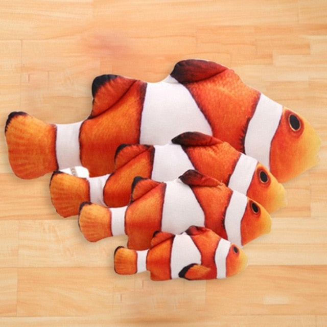 Life like Fish Toy for Cats & Dogs- Padded Cat nip - The Paw Empire