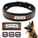 Personalised Leather Dog Collar -  M, L, XL Engraved  Adjustable Pet Collar - The Paw Empire