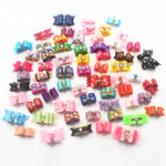 Colour Collection Bow Hair Ties - 10 pack of Dog or Cat Hair Bands - The Paw Empire
