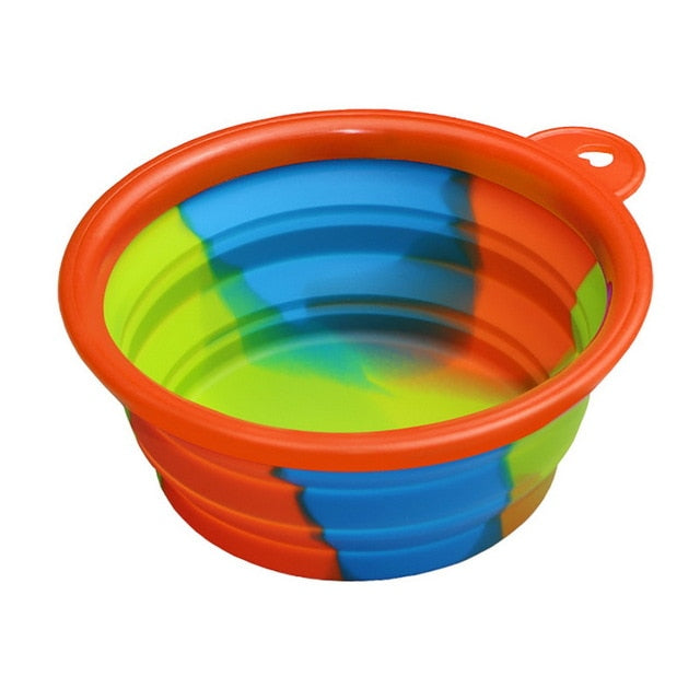the-paw-empire - 350ml Rainbow Collapsible Pet Bowl - Portable Dog Water or Food Bowl - Bowls