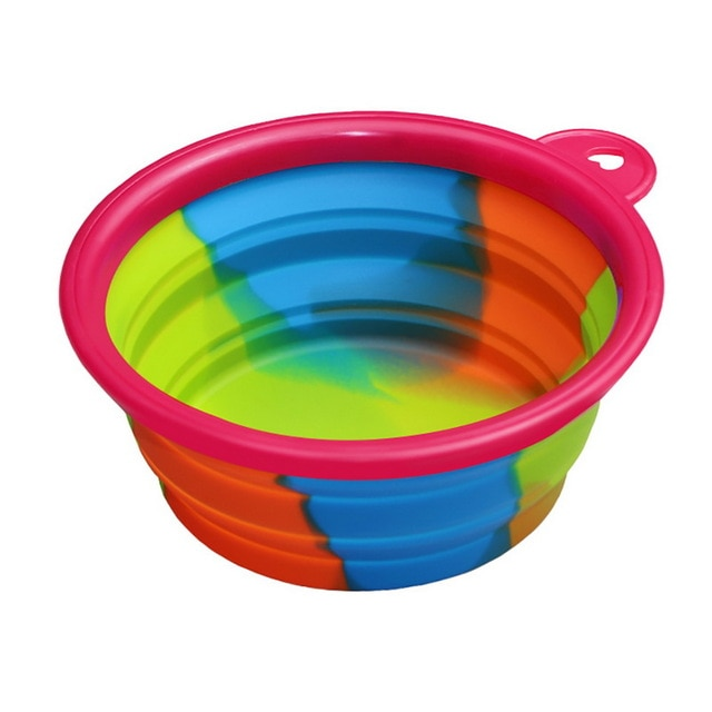 350ml Rainbow Collapsible Pet Bowl - The Paw Empire